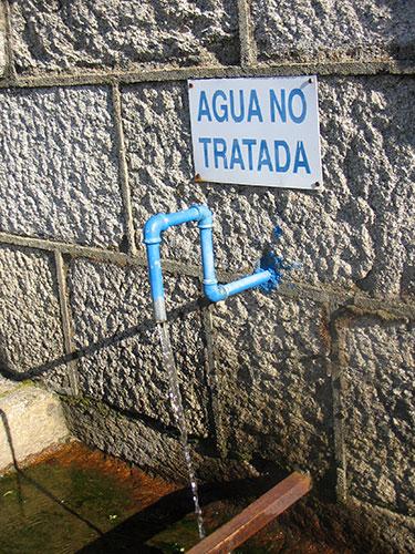 Agua no tratada