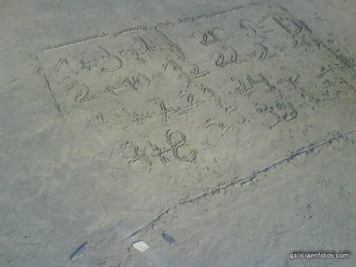 Pitagorín en la playa