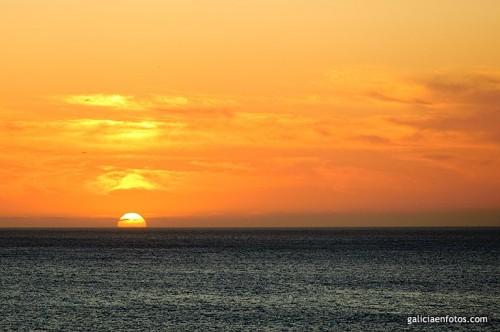 Puesta de sol en Cabo Prioriño