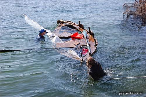 Remolcando la barca