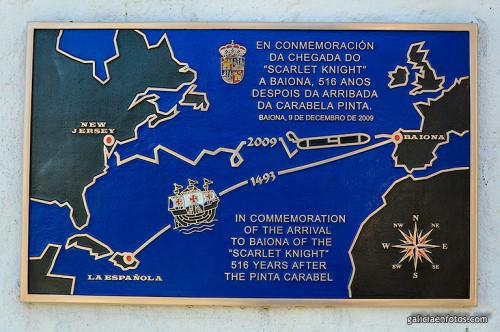 Placa en Bayona