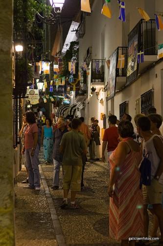 Calles de Altea por la noche