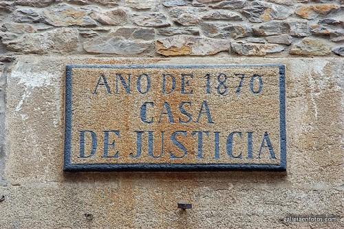 Cartel de los juzgados