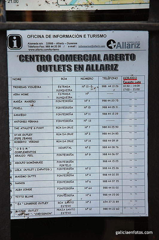 Entrada horarios de los outlets - Outlet en allariz ...