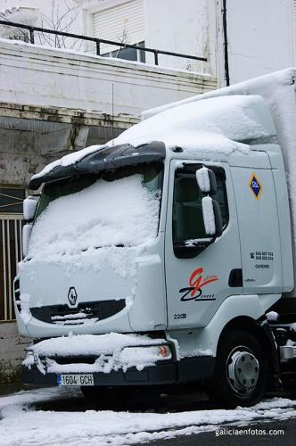Camión nevado