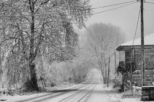 Nieve pasando Orense