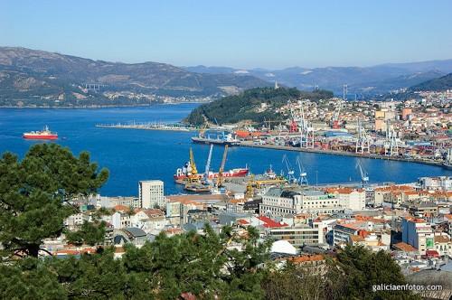 Puerto comercial de Vigo
