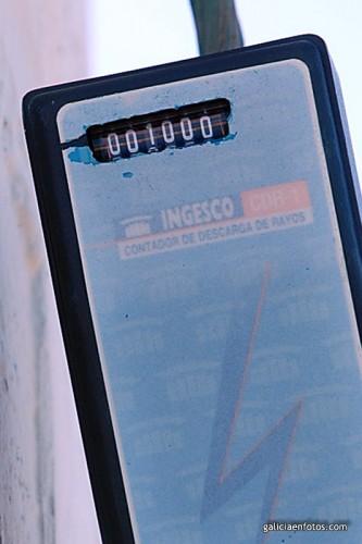 Contador de rayos a 1000