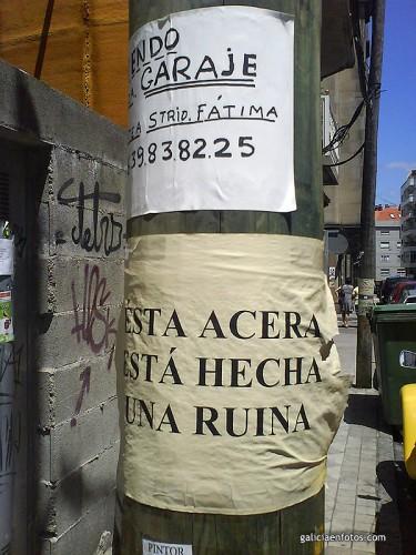 Cartel en calle Pino