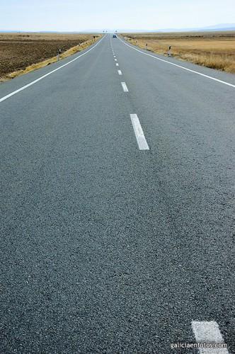 Foto en medio de la carretera