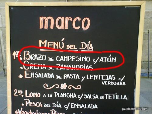 Menú del Marco