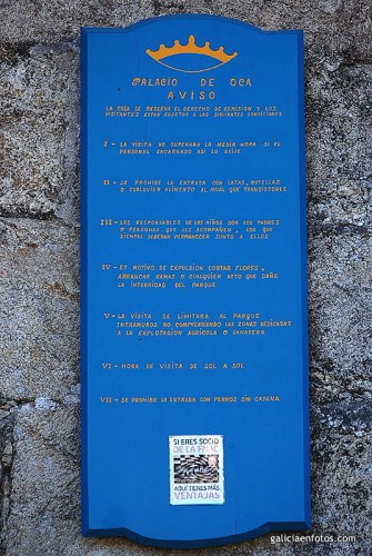 Otro cartel en la entrada