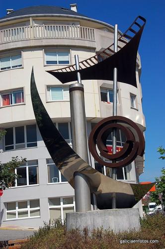 Estatua en Burela