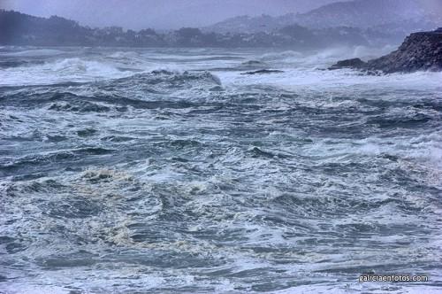 El mar cabreado