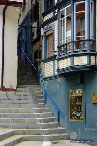 Escaleras en Cudillero
