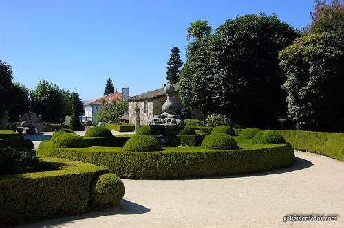 Jardín interior del Pazo de Oca