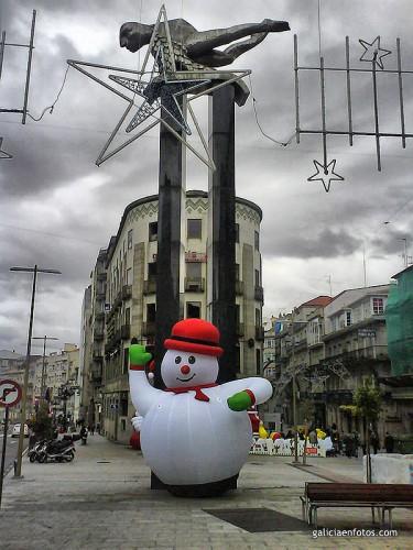 Muñeco de nieve hinchable